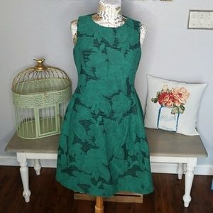 New York & Company Green a-line dress